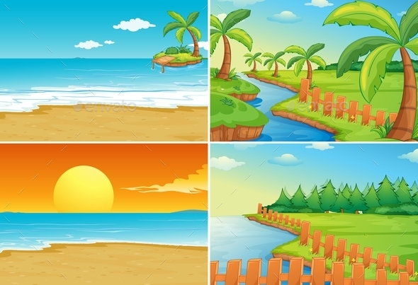 GraphicRiver Beach and River 11216553