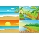 Beach and River - GraphicRiver Item for Sale