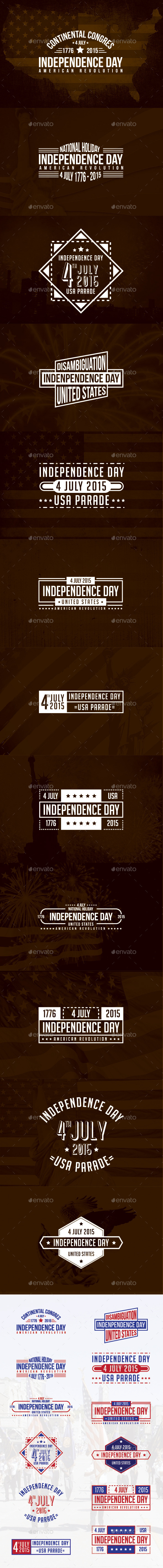 GraphicRiver 12 Badges and Stickers 4 July Independence Day 11216612