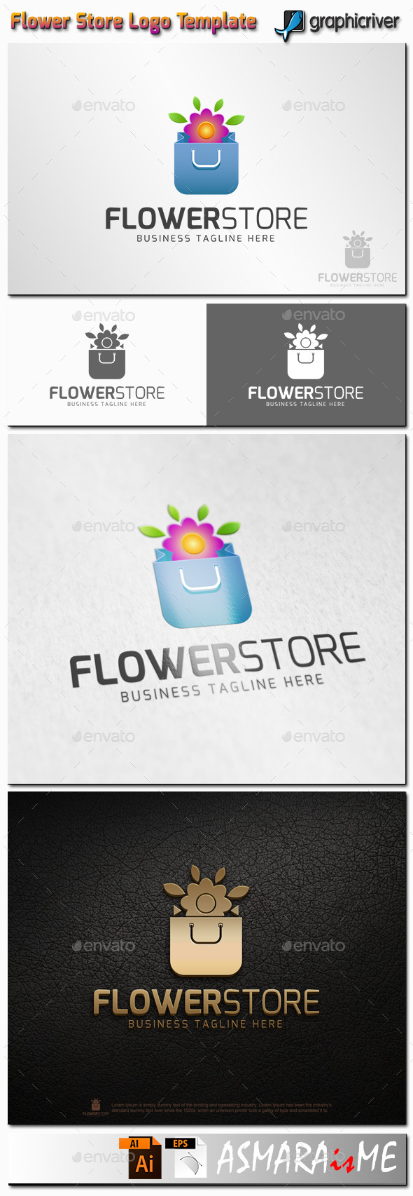 GraphicRiver Flower Store Logo 11216690