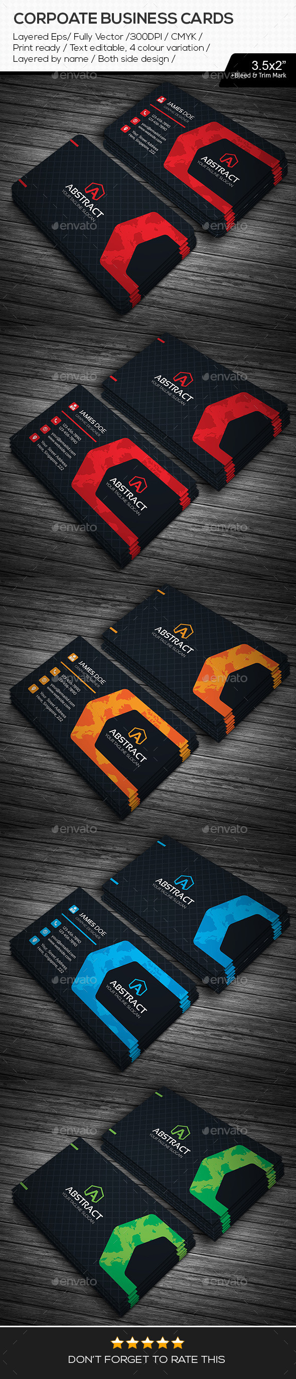 GraphicRiver Abstract Corporate Business Cards 11216764