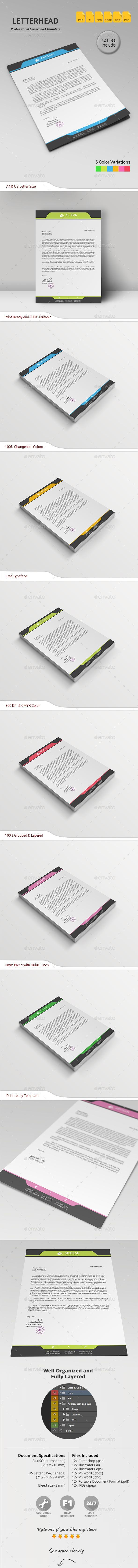 GraphicRiver Letterhead 11216770