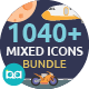 Mixed Flat Icons Bundle - GraphicRiver Item for Sale