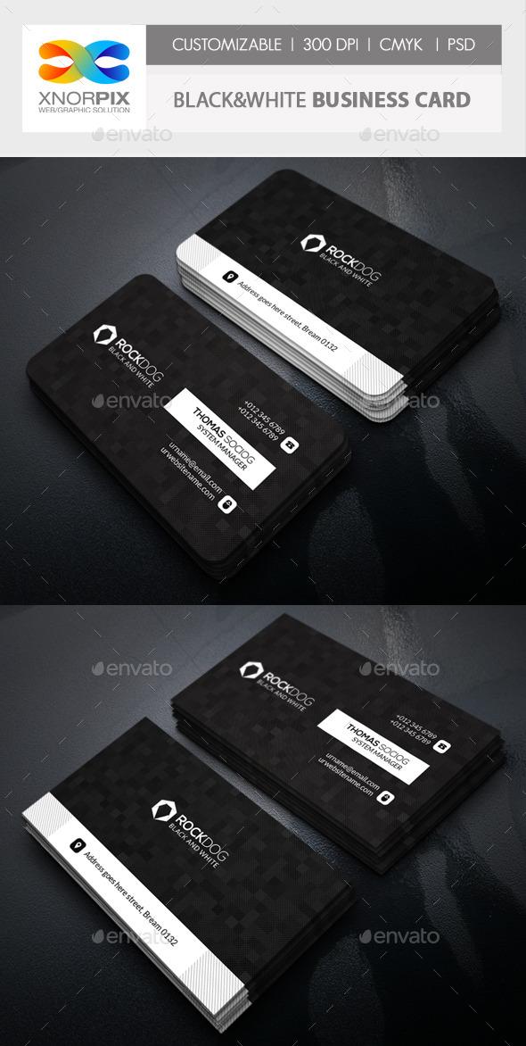 GraphicRiver Black&White Business Card 11216934