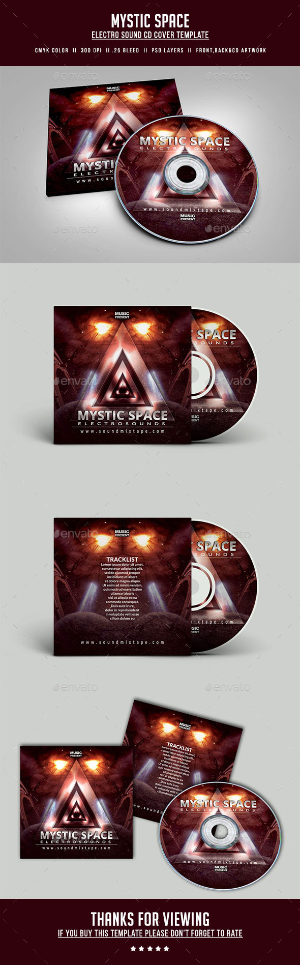 GraphicRiver Mystic Space CD Cover 11217236