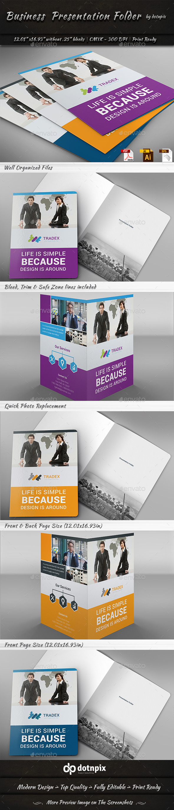 GraphicRiver Business Presentation Folder 11217264
