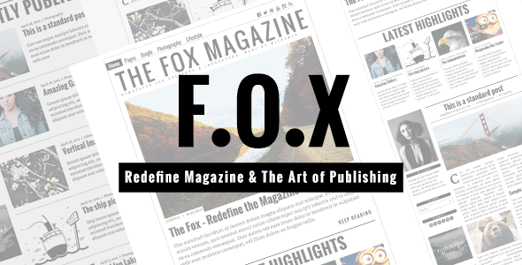 ThemeForest The Fox Contemporary Magazine Theme for Creators 11103012