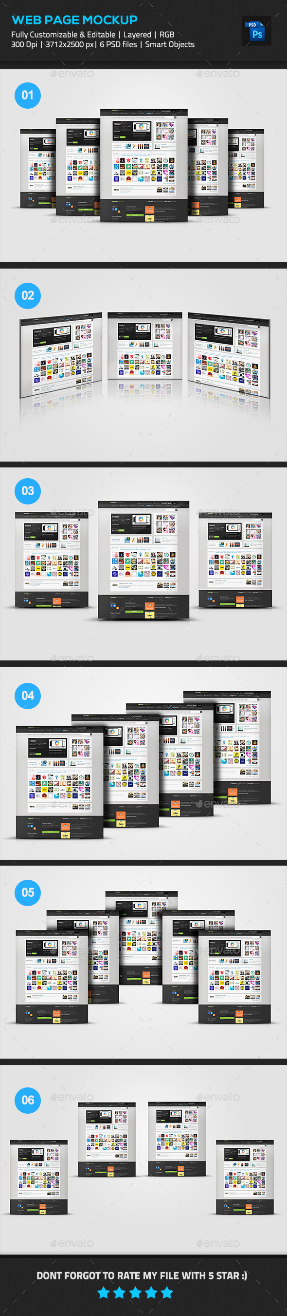 GraphicRiver Website Pages Mockup 11211490