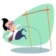 Businessman Pole Vaulting - GraphicRiver Item for Sale