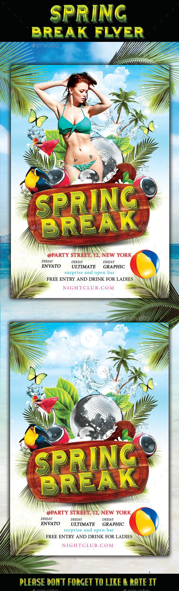 GraphicRiver Spring Break Flyer 11217666