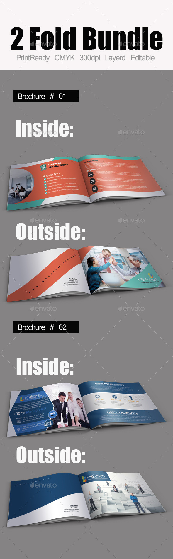 GraphicRiver Business Bifold Square Brochure Bundle 11218059