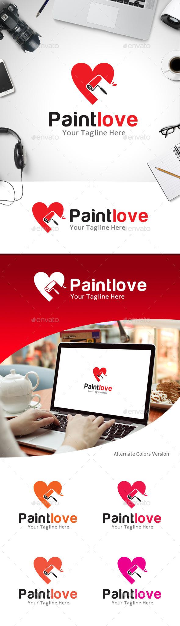 GraphicRiver Paint Love Logo 11218072