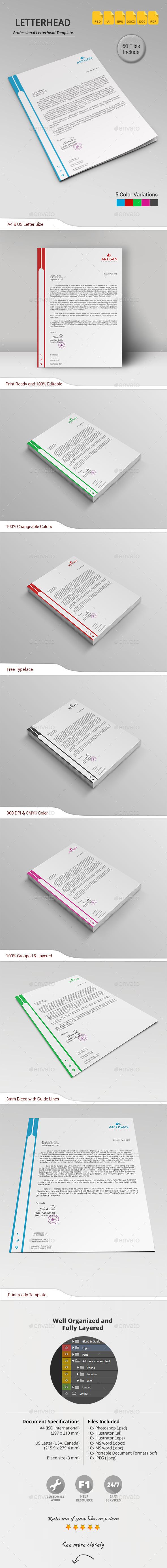 GraphicRiver Letterhead 11218129