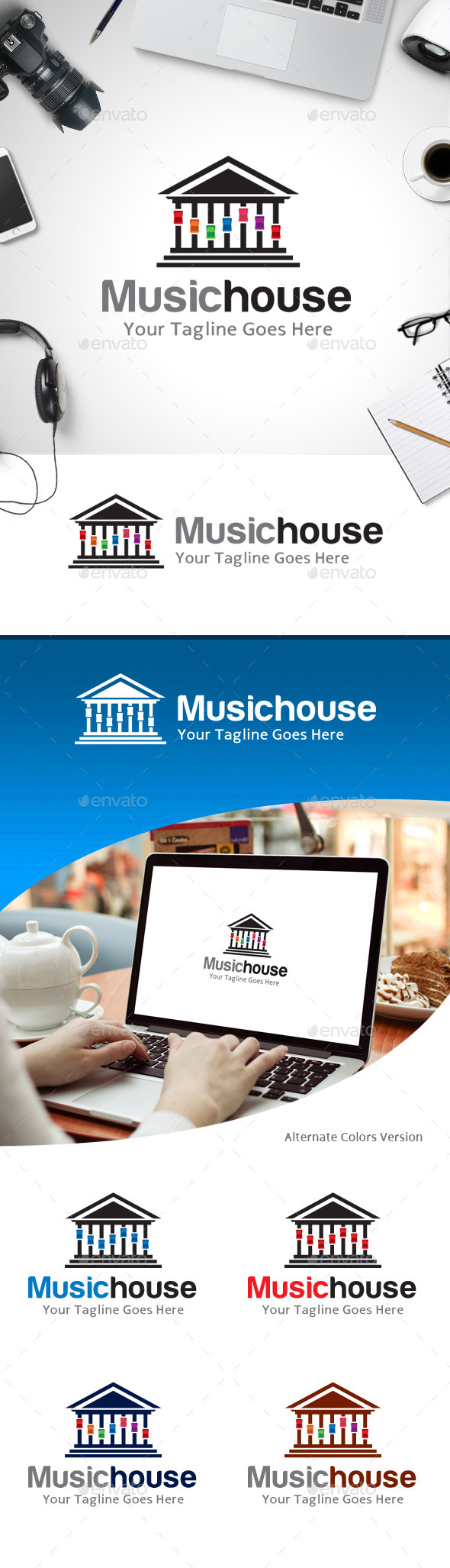 GraphicRiver Music House Logo 11218169