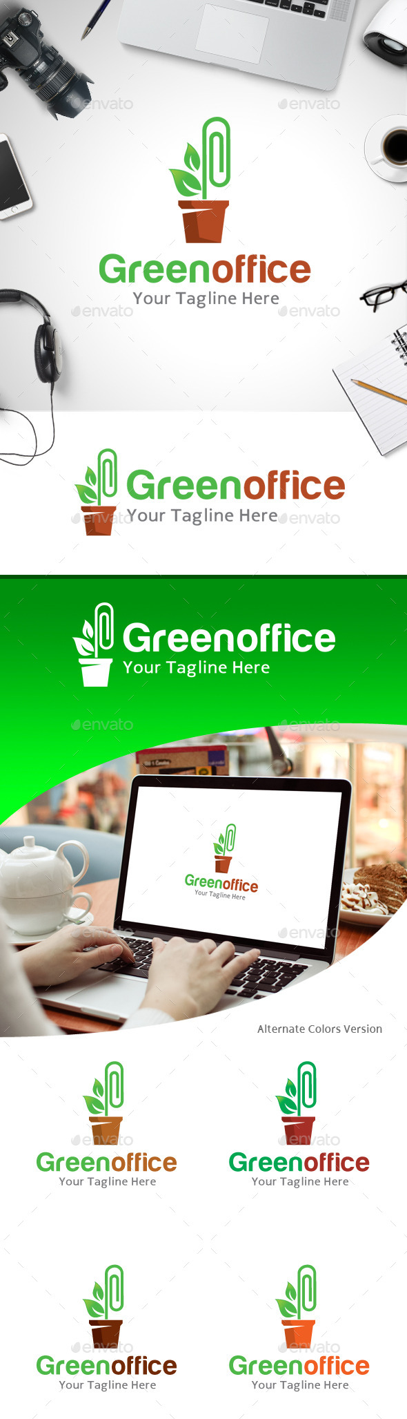 GraphicRiver Green Office Logo 11218182