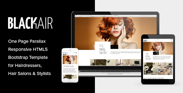 ThemeForest Blackair One Page HTML5 Template for Hair Salons 11124149