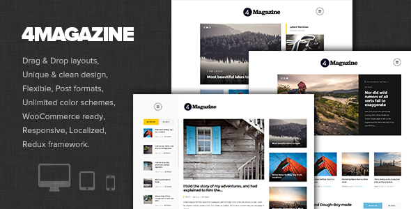 4magazine - Fresh and Modern Mag/Blog Theme