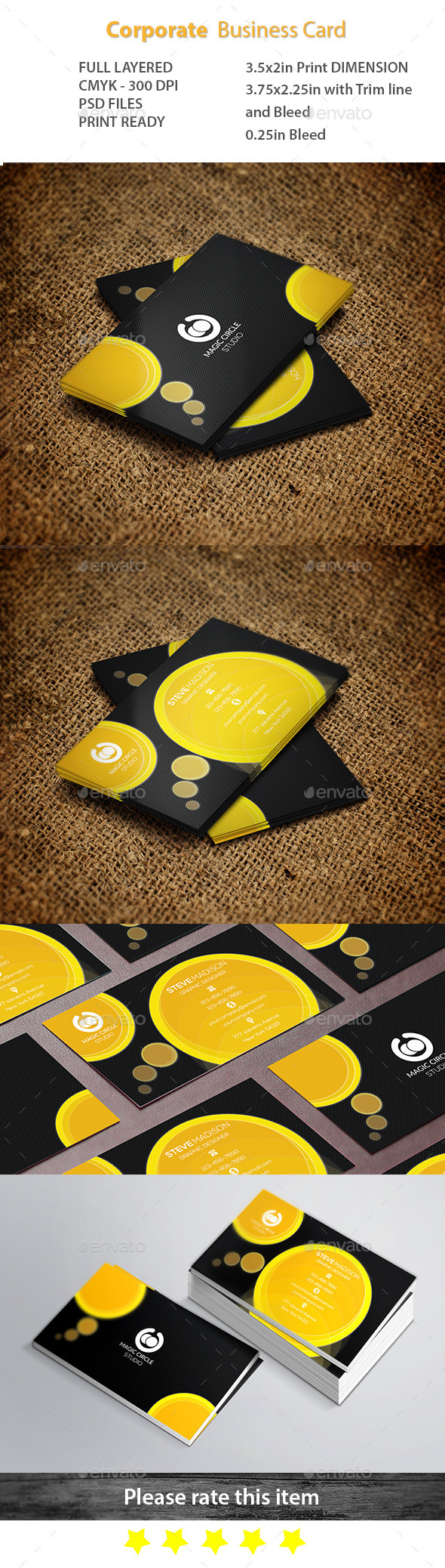 GraphicRiver Corporate Business Card 11218667