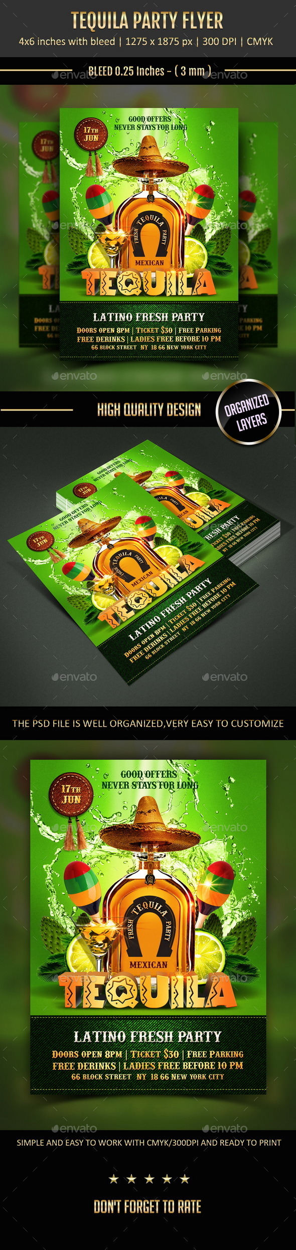 GraphicRiver Tequila Party Flyer 11218671