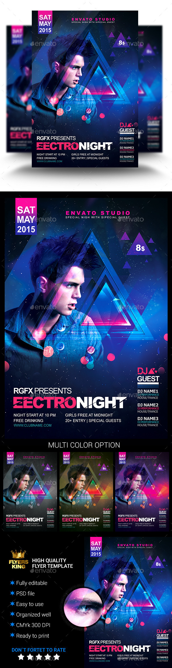 GraphicRiver Electro House Flyer 11218676