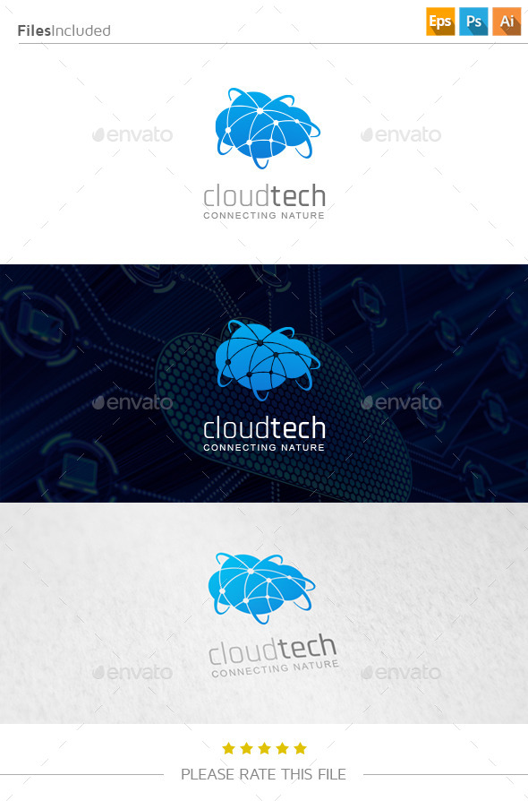 GraphicRiver Cloud Technology Logo 11219057