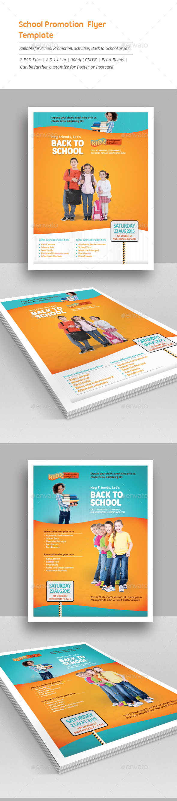 GraphicRiver School Promotion Flyer Templates 11219350