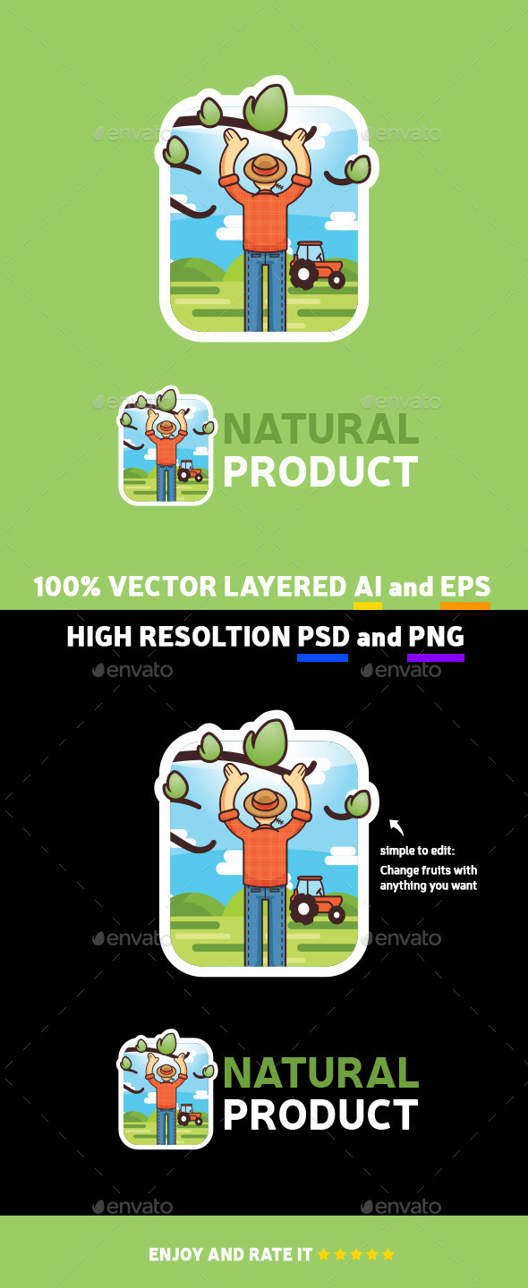 GraphicRiver Natural Product Logo Badge 11192381