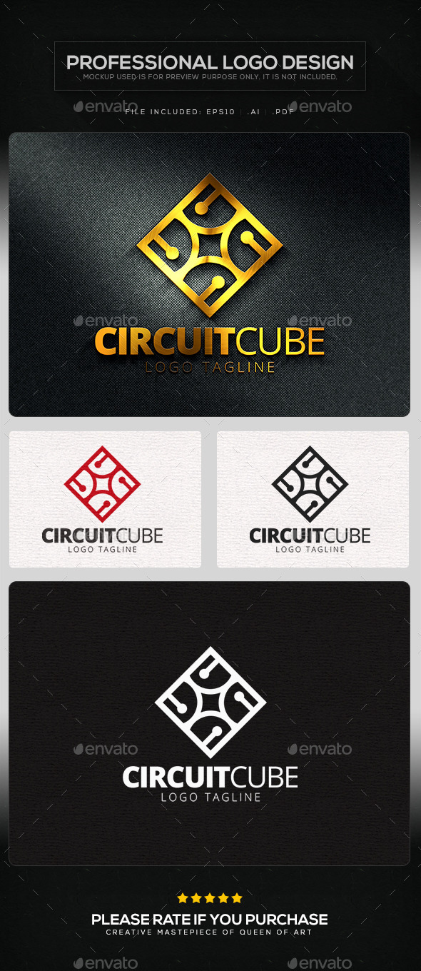 GraphicRiver Circuit Cube Logo Template 11219581