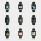 Smartwatch Icons - GraphicRiver Item for Sale