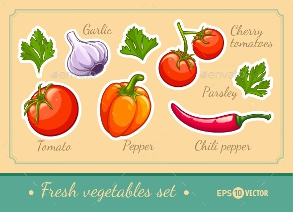 GraphicRiver Set of Fresh Vegetables 11219621