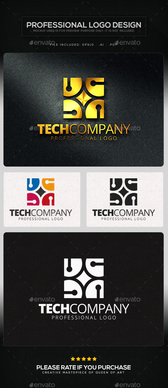GraphicRiver Tech Company Logo Template 11219624