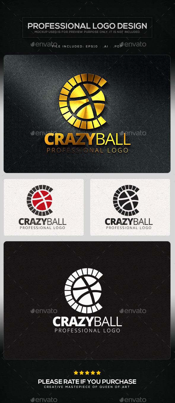 GraphicRiver Crazy Ball Logo Template 11219636