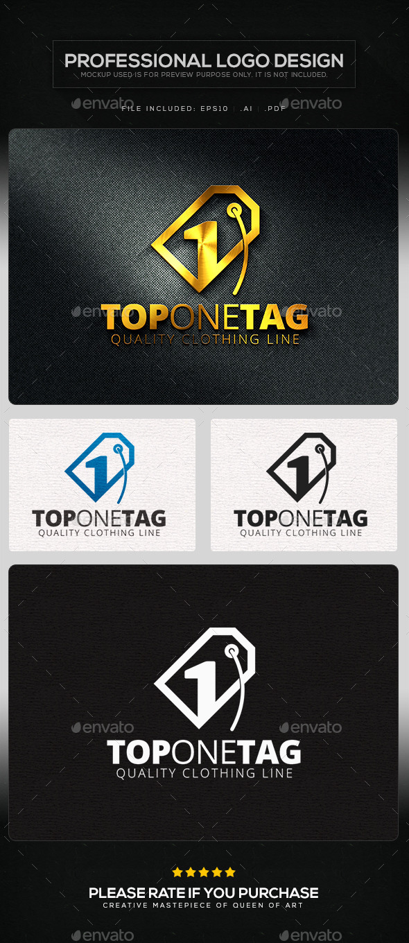 GraphicRiver Top One Tag Logo Template 11219764