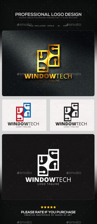 GraphicRiver Window Tech Logo Template 11219788