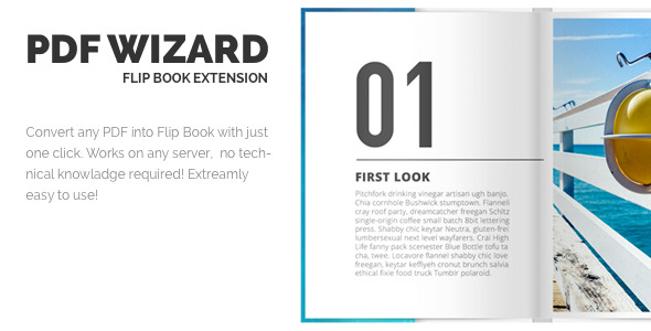 CodeCanyon PDF Wizard Responsive FlipBook WP Extension 11219800