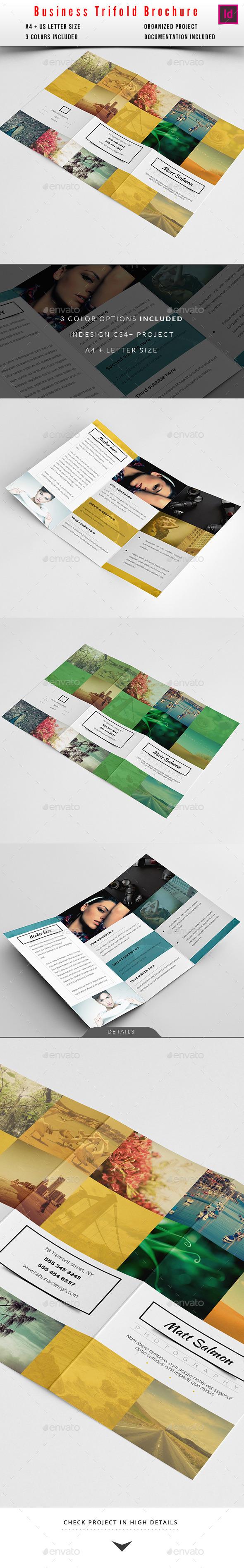 GraphicRiver Portfolio Modern Trifold Brochure 11219969