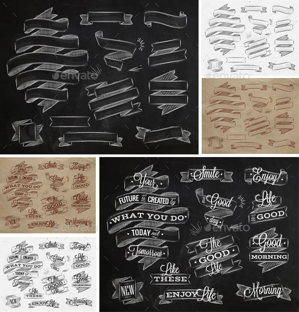 GraphicRiver Ribbons Vintage Style 11219978