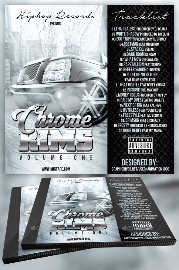 GraphicRiver Chrome Rims Mixtape Cover 11200723