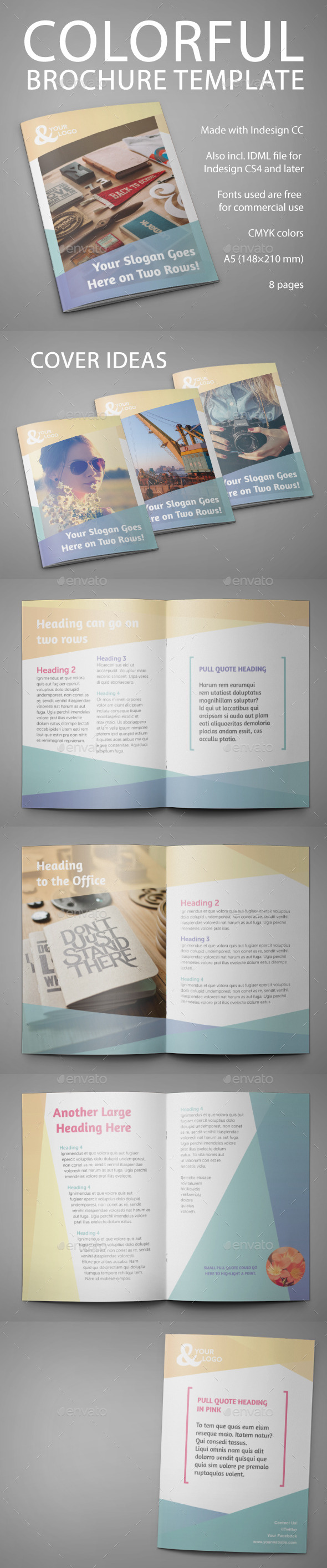 GraphicRiver Colorful Brochure Template 11220123