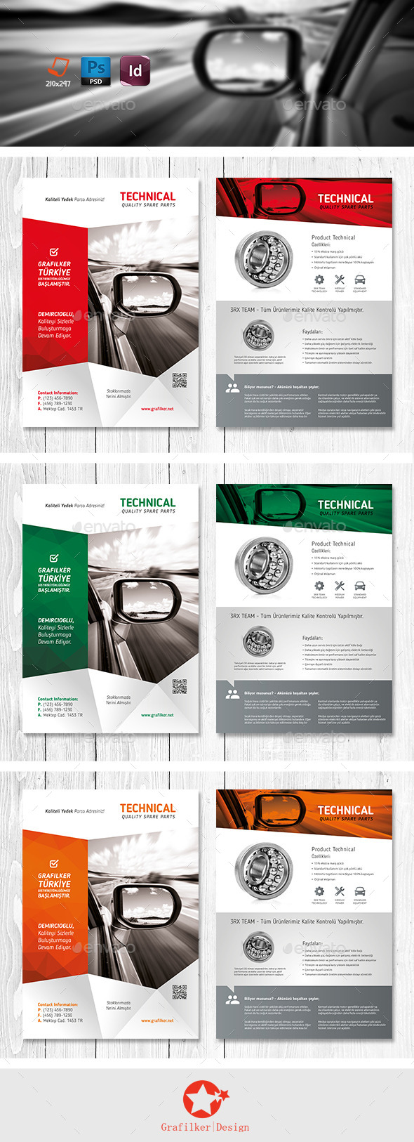GraphicRiver Technical Data Product Flyer Templates 11220281