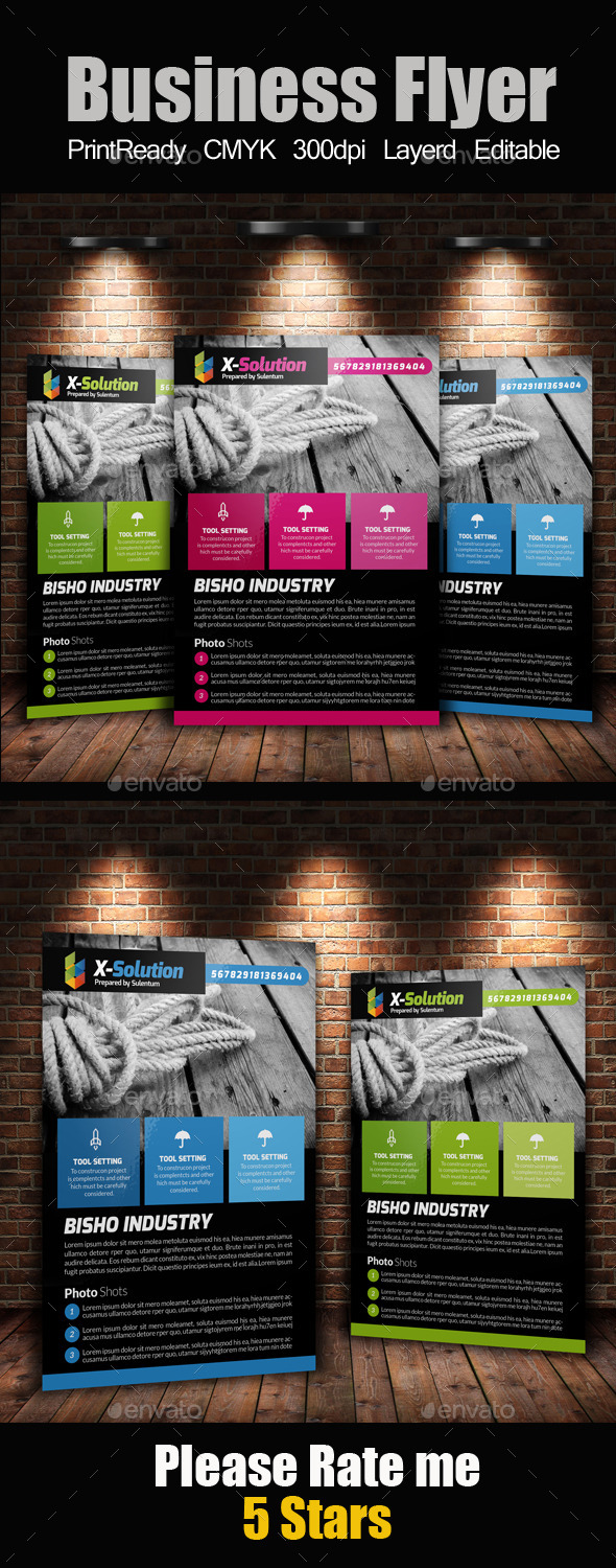 GraphicRiver A4 Business Flyer Template 11220384