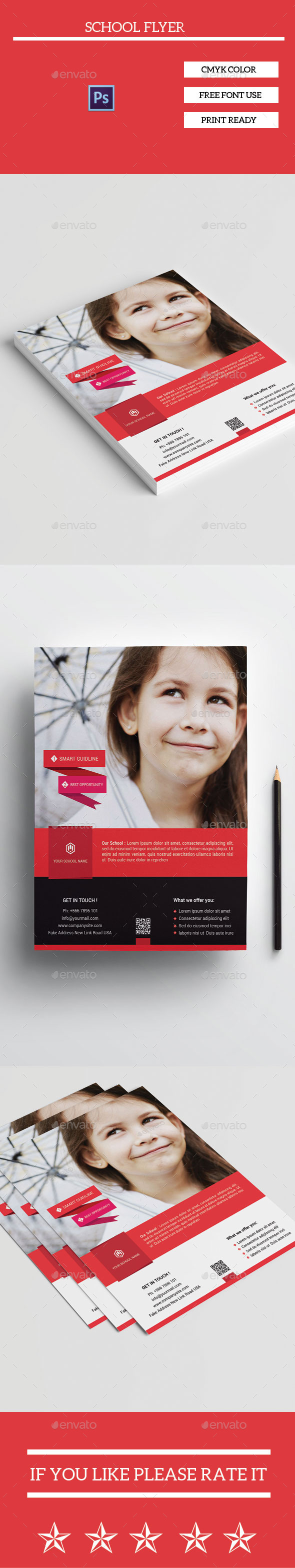 GraphicRiver School Flyer Template 11220393