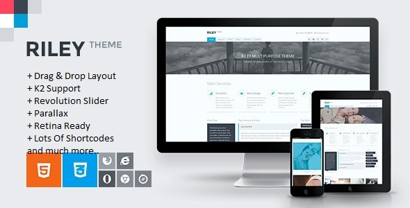 RILEY - Responsive MultiPurpose Joomla Template