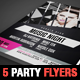 5 Party Flyer Templates - GraphicRiver Item for Sale