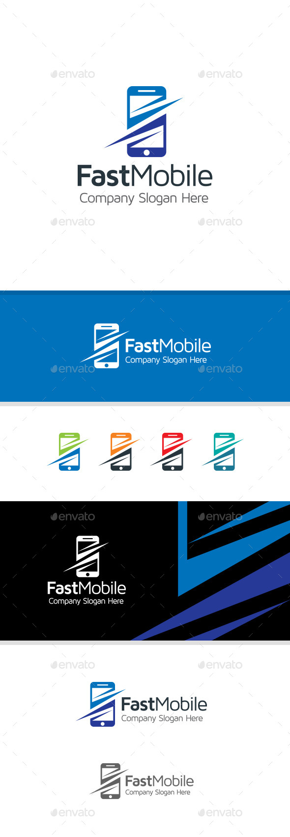 GraphicRiver Fast Mobile Logo 11220757