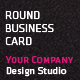 Round Business Card - GraphicRiver Item for Sale