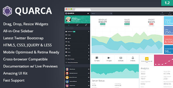 Image of Quarca - Responsive Admin Dashboard Template