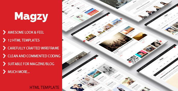 ThemeForest Magzy Clean Magazine HTML Template 11220839
