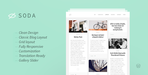 Soda — Clean Responsive Blog WordPress Theme