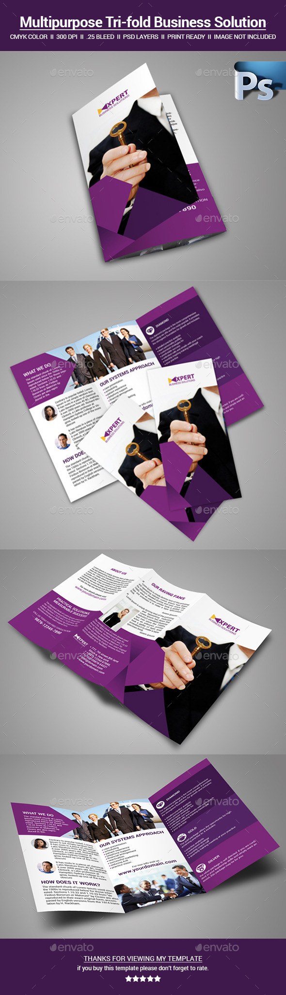 GraphicRiver Multipurpose tri-fold Brochure 11220899